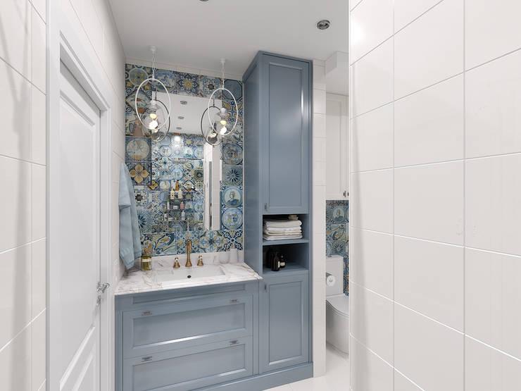 ЖК Столичный - ванная комната: Ванные комнаты в . Автор – Мастерская дизайна Онищенко Марии
