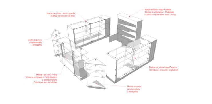 Especificaciones:  de estilo  por Jorge Osorio Arquitecto, Minimalista