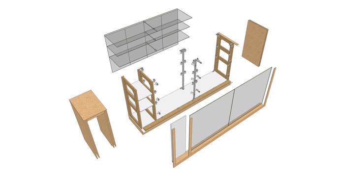 Despiece:  de estilo  por Jorge Osorio Arquitecto, Minimalista Vidrio