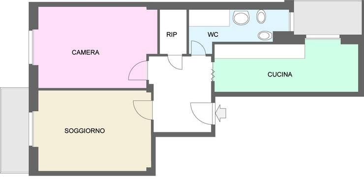 Casa Dp 2:  in stile  di gk architetti  (Carlo Andrea Gorelli+Keiko Kondo)