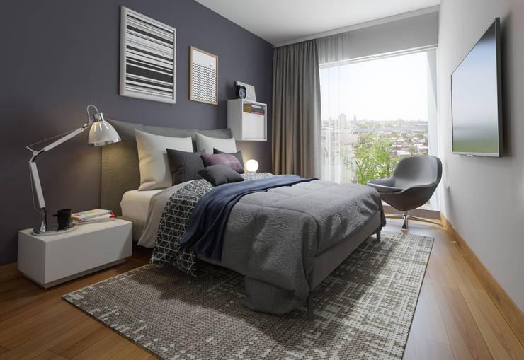 DORMITORIO - PROYECTO M: Dormitorios de estilo  por FABRE STUDIO,