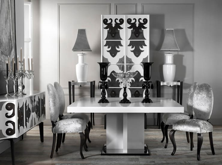 VALENTINA dining room:  Dining room by S. T. Unicom Pvt. Ltd.