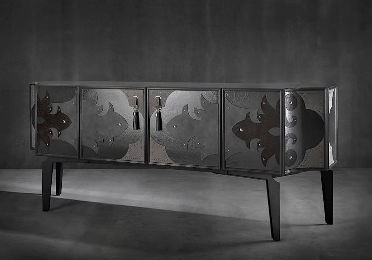 VALENTINA sideboard:  Living room by S. T. Unicom Pvt. Ltd.