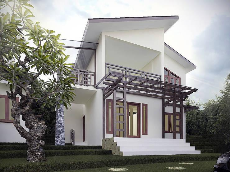 Rumah Tropis Semarang:  Rumah tinggal  by Chans Architect