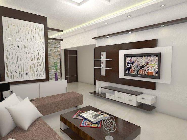 Modern Living Room Ideas:  Living room by URBAN HOSPEX INTERIORS