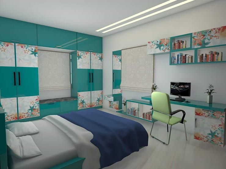 Children Bed room: modern Bedroom by URBAN HOSPEX INTERIORS