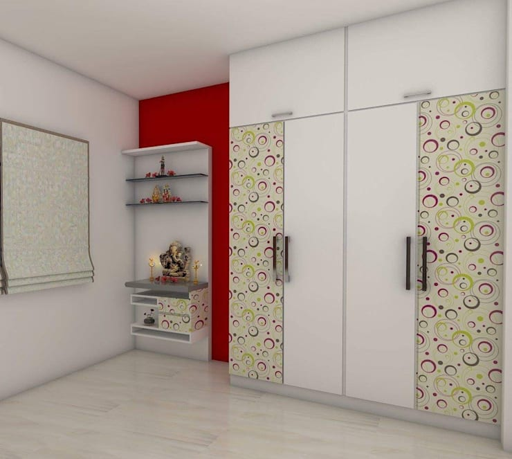 Guest Bedroom: mediterranean Bedroom by URBAN HOSPEX INTERIORS