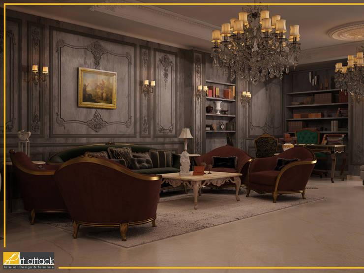 شقة مساكن شيراتون:  غرفة المعيشة تنفيذ Art Attack,
