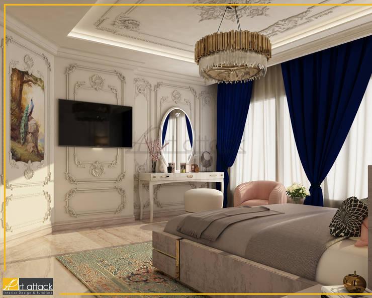 شقة مساكن شيراتون:  غرفة نوم تنفيذ Art Attack,