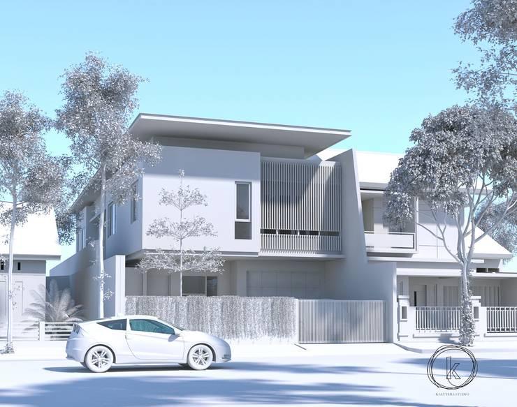 Tampak:  Rumah tinggal  by Kalytera Studio