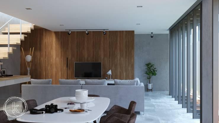 Rumah Tinggal Kontemporer:  Ruang Makan by Kalytera Studio