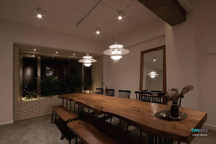 다이닝룸 - 전주인테리어 상가주택 인테리어 30평 인테리어 - 위크앤드 -: 디자인투플라이의  다이닝 룸