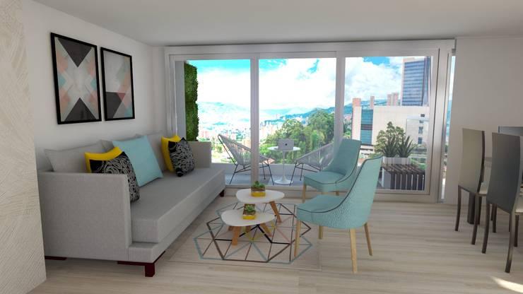 Sala : Salas de estilo  por Naromi  Design