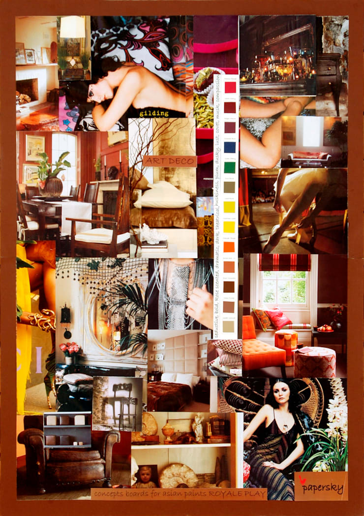 Mood boards :   by Papersky Studio