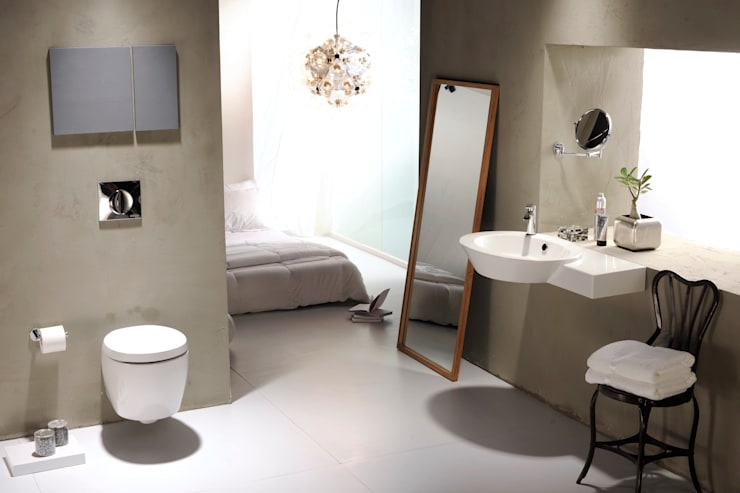 Mix of Bathrooms :  Bathroom by Papersky Studio,Industrial