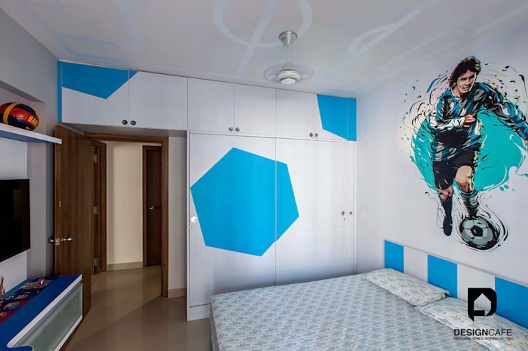 Palak and Vishal's- Residential Project:  Nursery/kid's room by Design  Cafe