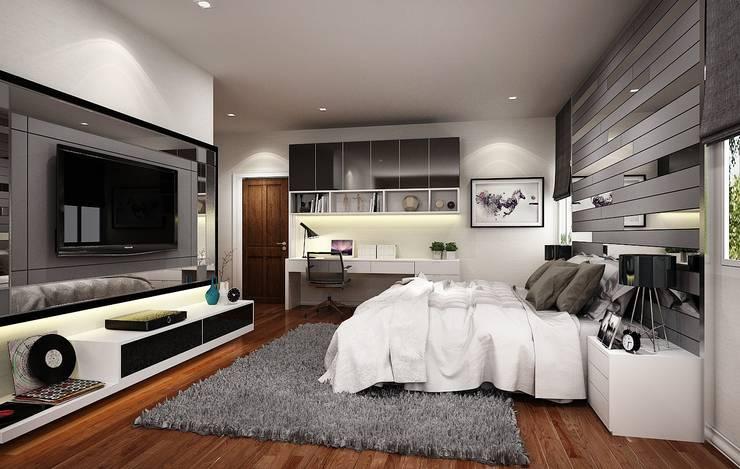 หมู่บ้าน Q house avenue พระราม5:   by IDG interior decoration studio Co.,Ltd.