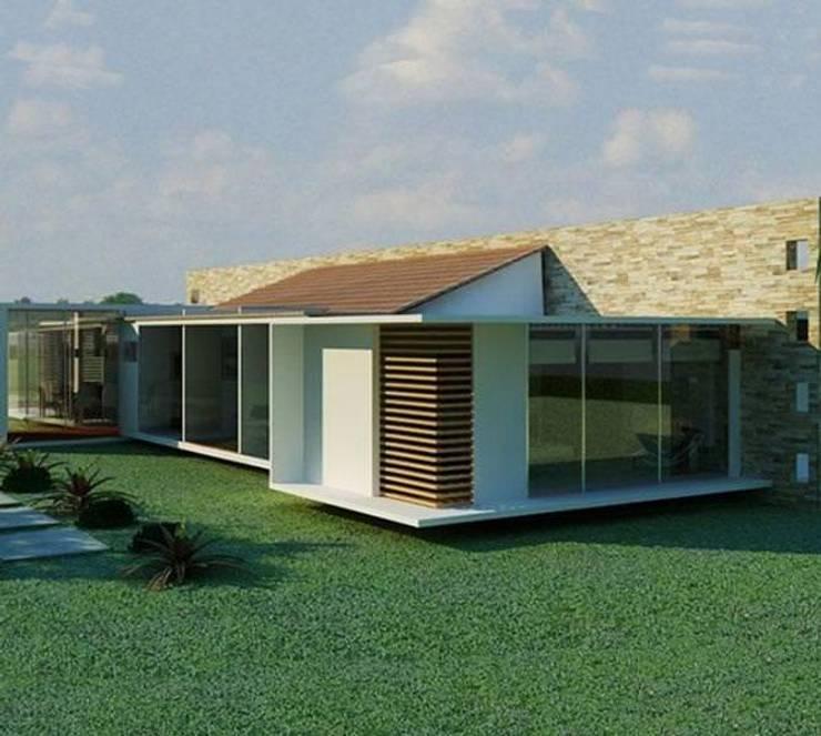 Quintas de Serrezuela: Conjunto residencial de estilo  por Coestructural sas