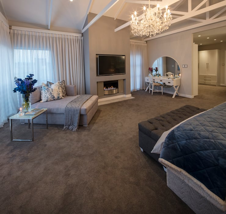 country Bedroom by Spegash Interiors