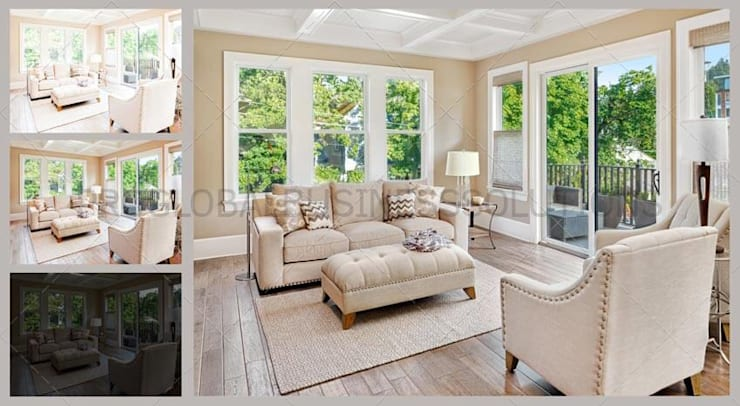 Real Estate Photo Editing Services: modern Living room by Proglobalbusinesssolutions