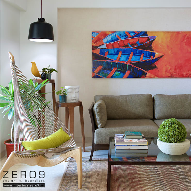 Living Room:  Living room by ZERO9