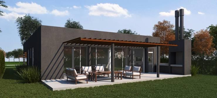 Render contrafrente: Casas de estilo  por KorteSa arquitectura,