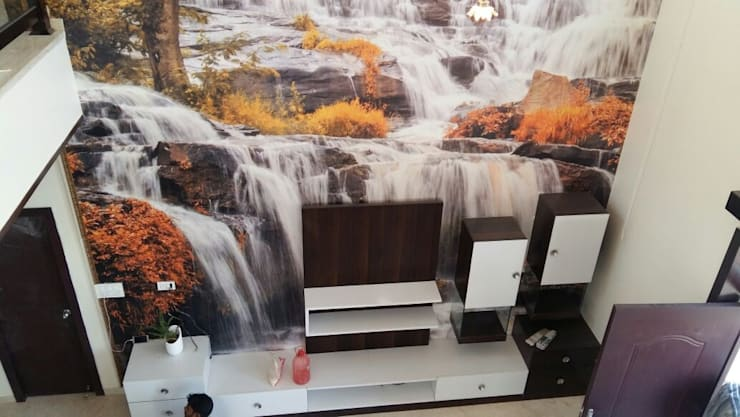 Wall: modern Living room by Arch Point