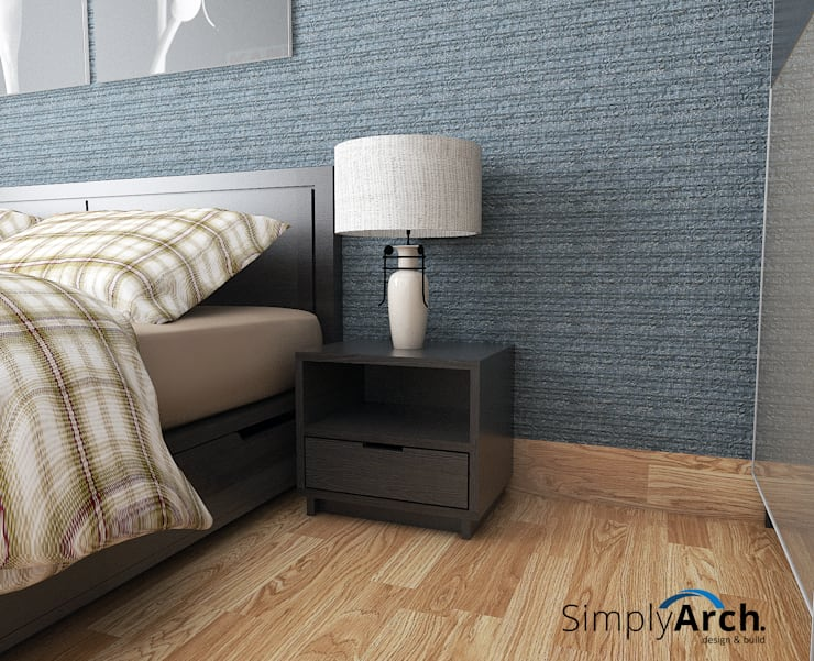 A-Apartment at Botanica Apartment, Simprug – South Jakarta:  Kamar Tidur by Simply Arch.