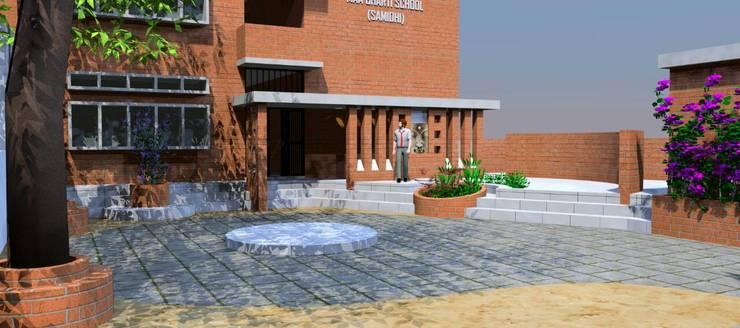 Maa Bharti Jr. School:  Country house by Ravi Prakash Architect