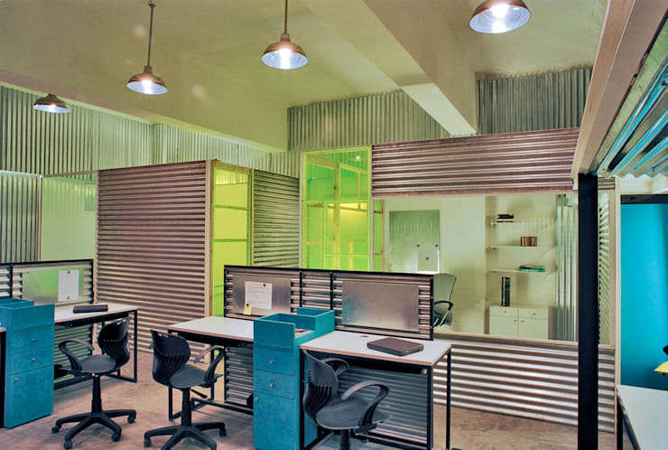 Indigo Office:  Study/office by DCOOP ARCHITECTS