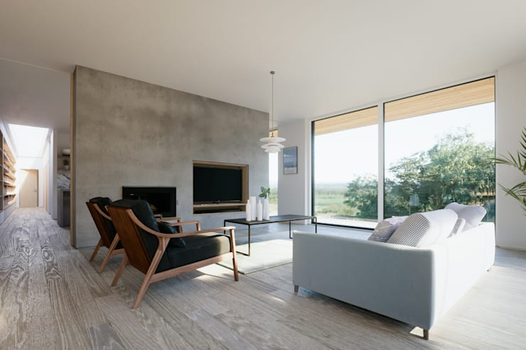 modern Living room by Brown + Brown Architects