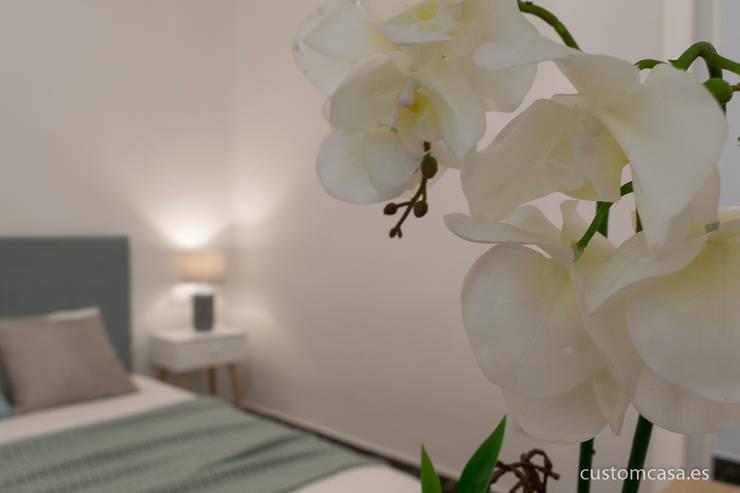 Singular vivienda de estilo nórdico en Valencia : Dormitorios de estilo  de custom casa home staging