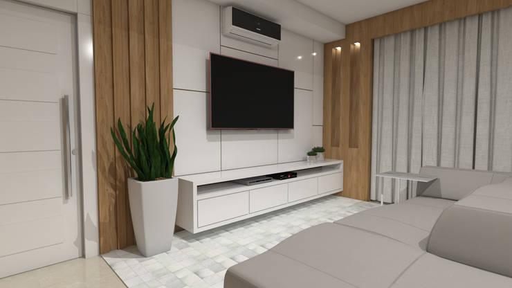 客廳 by Camila Ribeiro | Arquitetura & Interiores