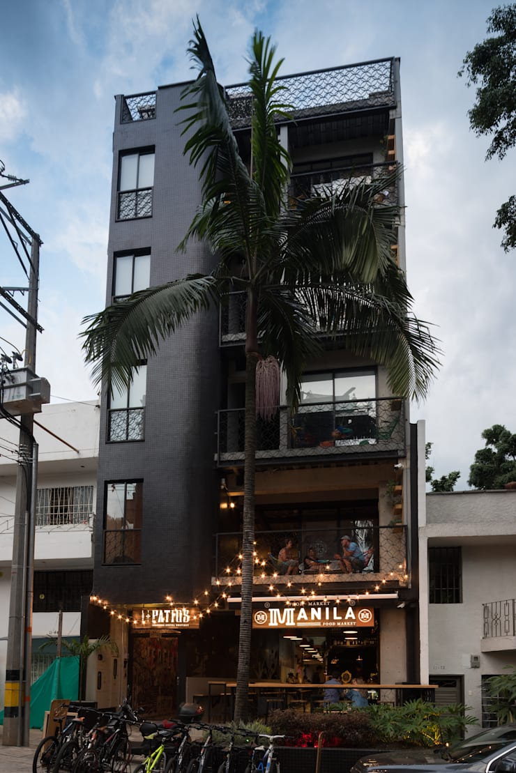 MANILA MARKET: Bares y discotecas de estilo  por PLANTA BAJA ESTUDIO DE ARQUITECTURA, Moderno