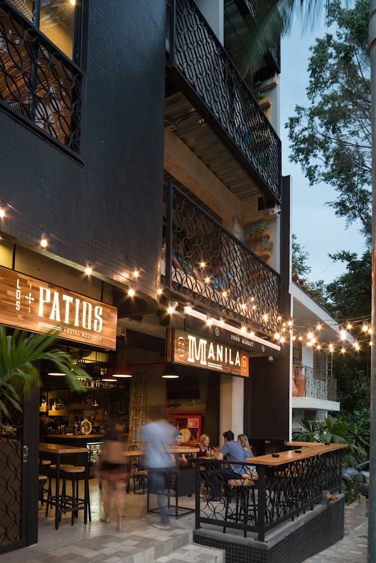 MANILA MARKET: Locales gastronómicos de estilo  por PLANTA BAJA ESTUDIO DE ARQUITECTURA, Moderno