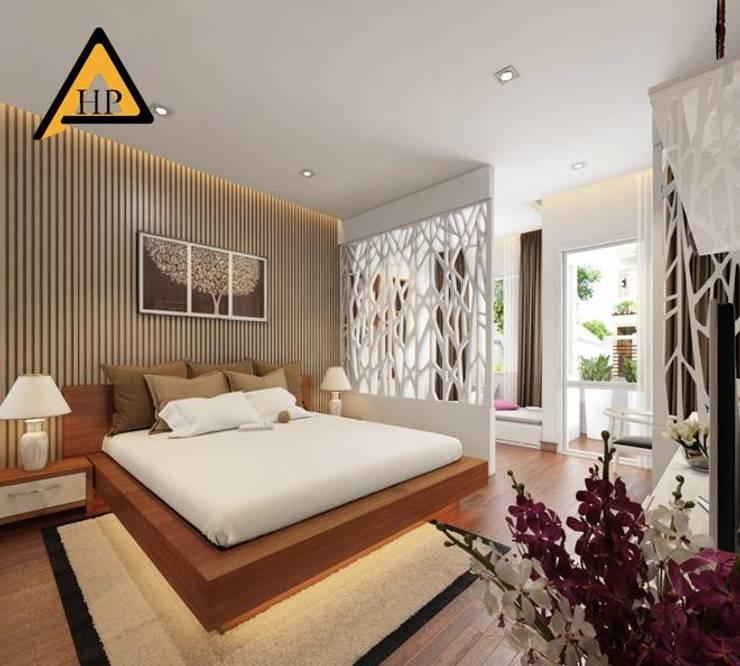 Anh Dũng Hòa Bình:  Phòng ngủ by CTY KIẾN TRÚC VÀ NỘI THẤT HP-HOUSE