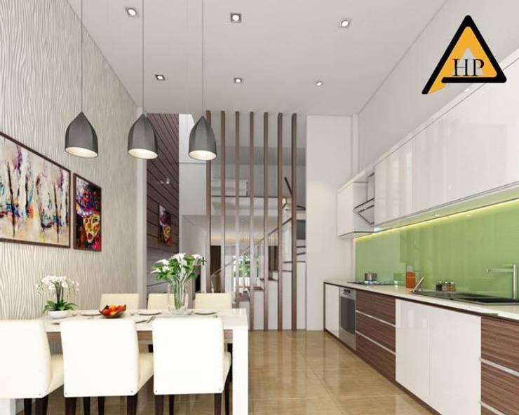 Anh Dũng Hòa Bình:  Nhà bếp by CTY KIẾN TRÚC VÀ NỘI THẤT HP-HOUSE