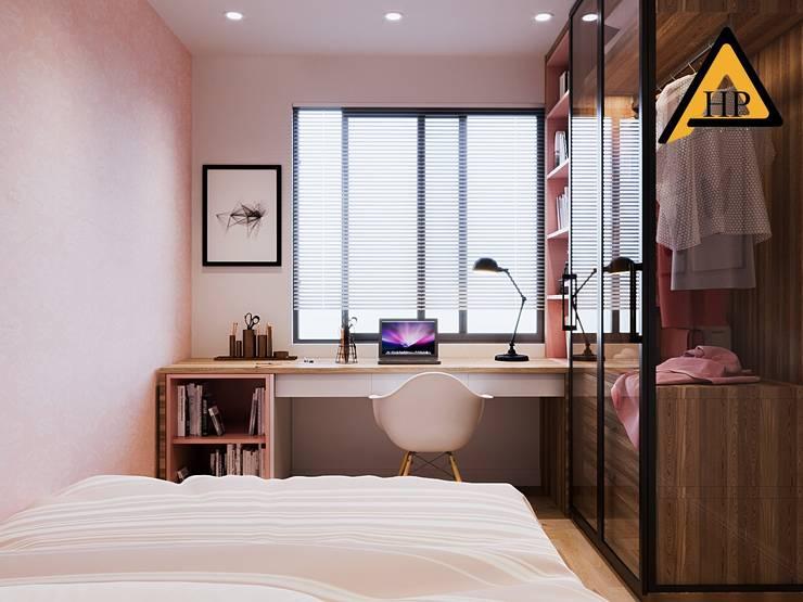 Anh Duy – Khương Trung, Hà Nội:  Phòng ngủ by CTY KIẾN TRÚC VÀ NỘI THẤT HP-HOUSE