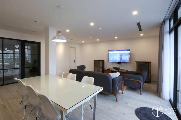 Cải tạo căn hộ tầng 7 Chung cư Ngọc Khánh:  Phòng ăn by AOTA atelier