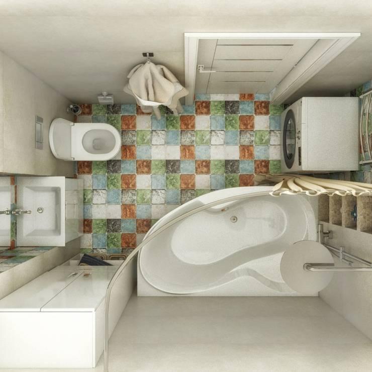 Ванная комната: Ванные комнаты в . Автор – Гузалия Шамсутдинова   KUB STUDIO
