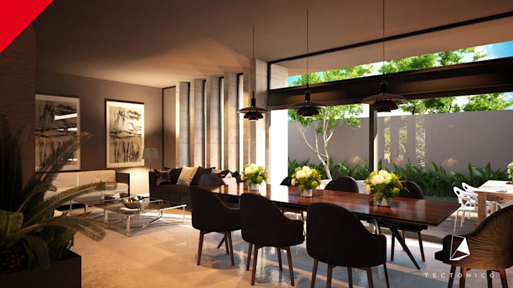 modern Dining room by Tectónico