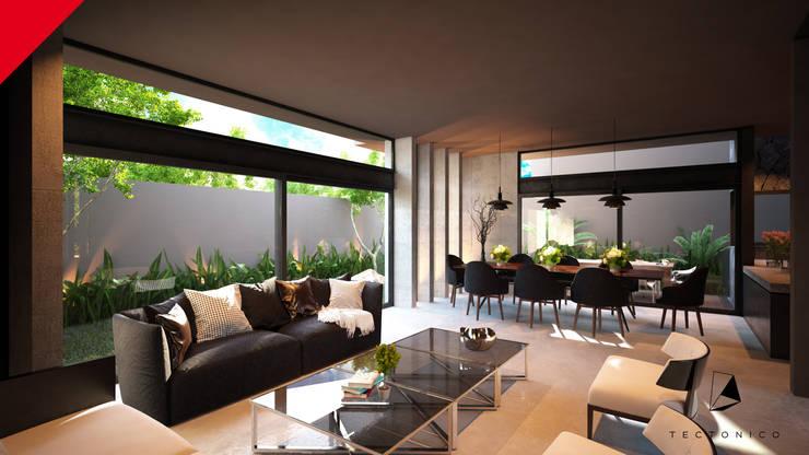 modern Living room by Tectónico