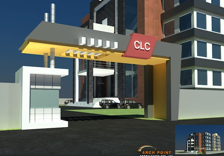 CLC Entrance:   by Arch Point