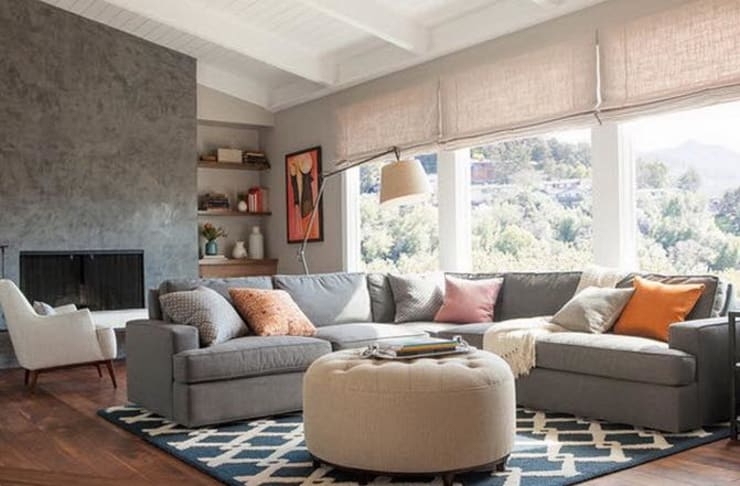 How does Grey work? :  Living room by Spacio Collections