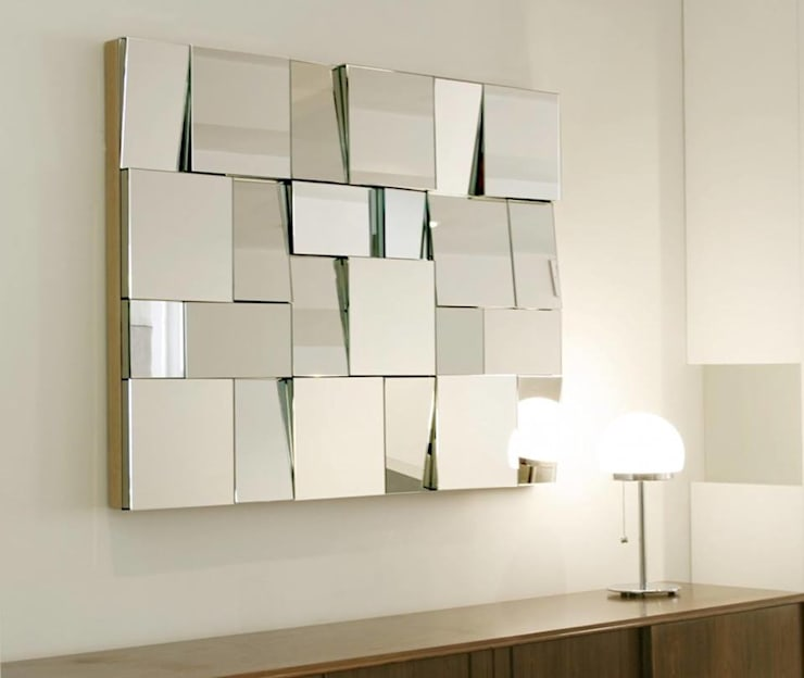 How does a mirror affect your space? : modern Living room by Spacio Collections