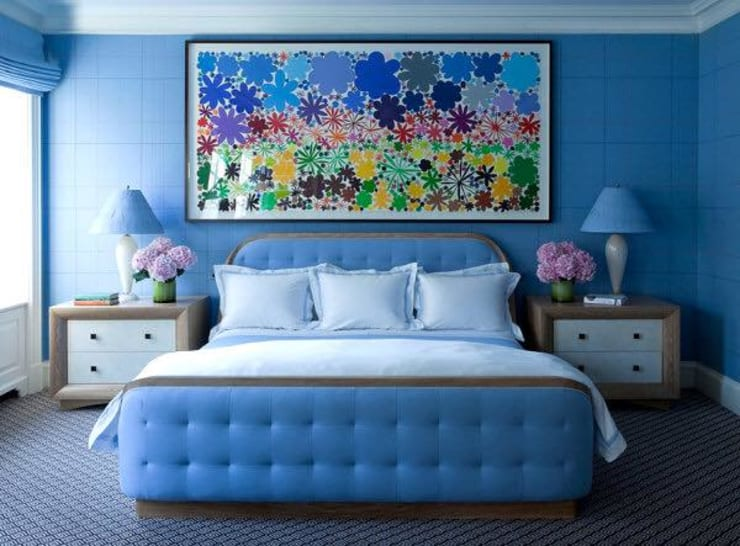 The blue room...: modern Bedroom by Spacio Collections
