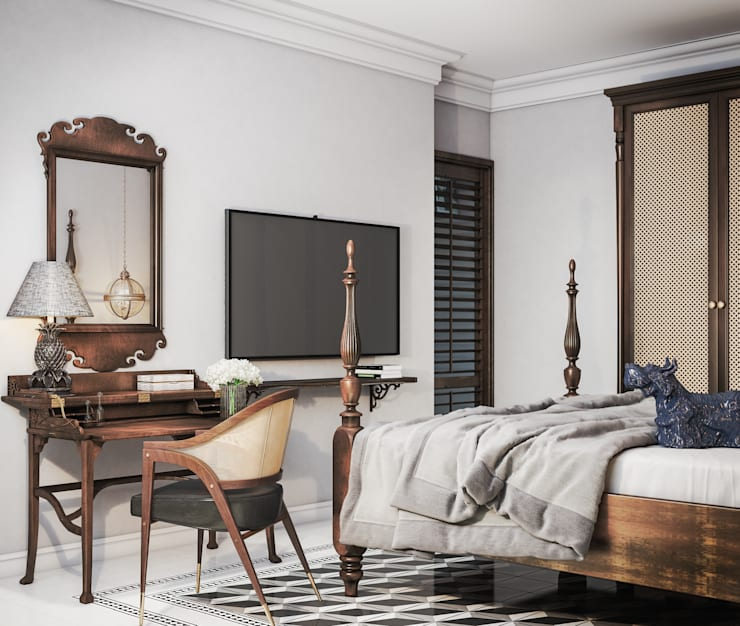 Colonial style - Tropic garden apartment:  Phòng ngủ by V Design Studio