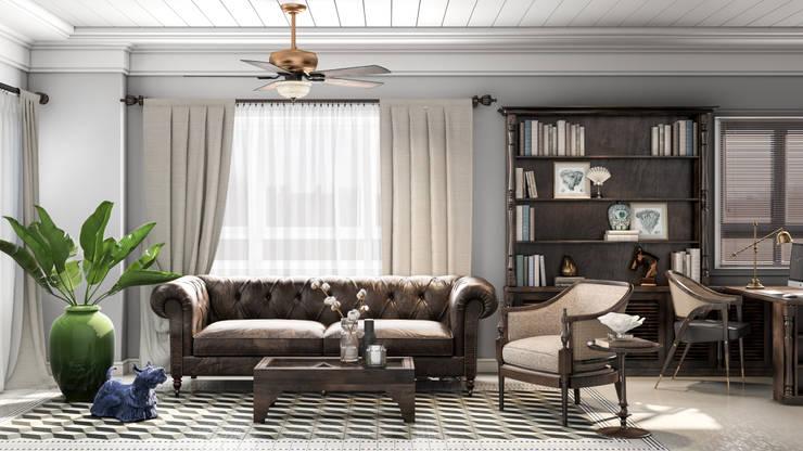 Colonial style - Tropic garden apartment:  Phòng khách by V Design Studio