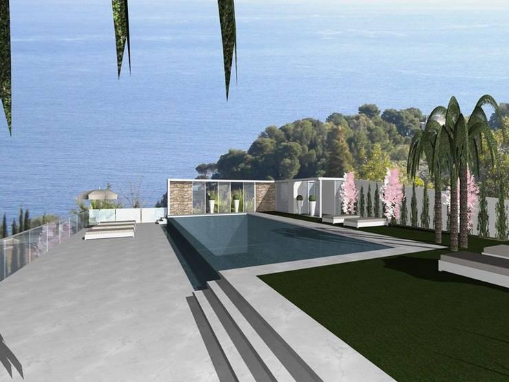 Piscinas infinitas de estilo  por Arch. Giuseppe Barone _ Studio di Architettura & Tutela del Paesaggio