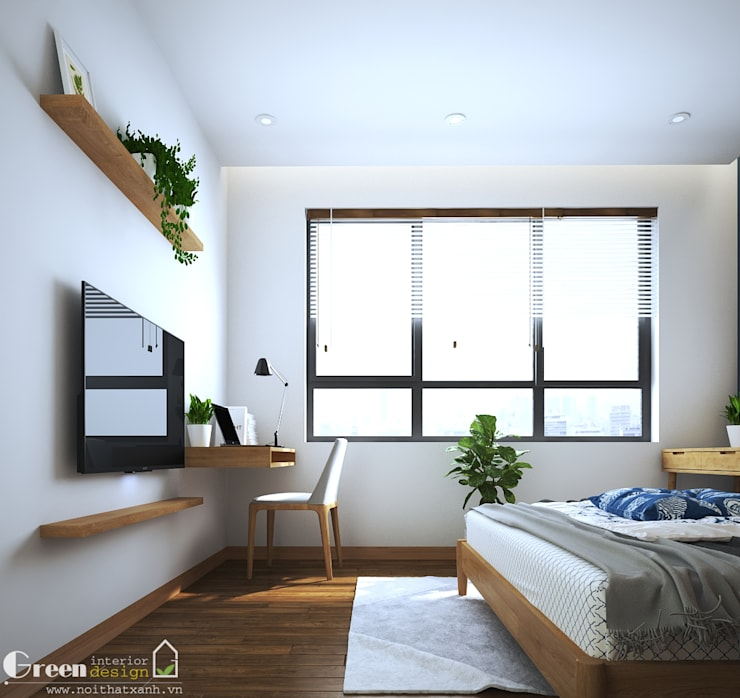 """SEASON AVENUE, ĐẠI LỘ 4 MÙA - """"MÙA HẠ MIỀN NHIỆT ĐỚI"""":  Cầu thang by Green Interior"""